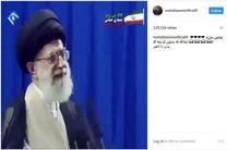 آقای گل لیگ برتر تولد رهبری را تبریک گفت