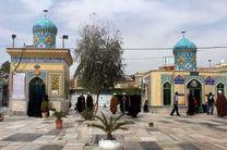 2 هزار نفر از خیمه معرفت مزار مقدس شیخان بازدید می نمایند