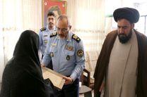 فرمانده نیروی هوایی ارتش با خانواده شهید زیر آبی آذر دیدار کرد