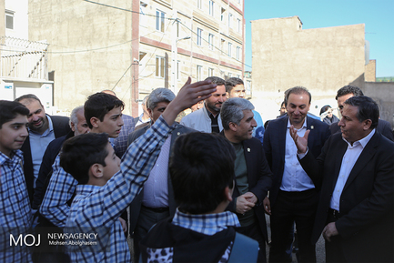بازدید اصحاب رسانه از پروژه های منطقه ۱۷ تهران