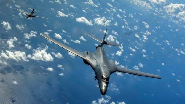 بمب افکنهای آمریکا بر فراز شبه جزیره کره به پرواز در آمدند