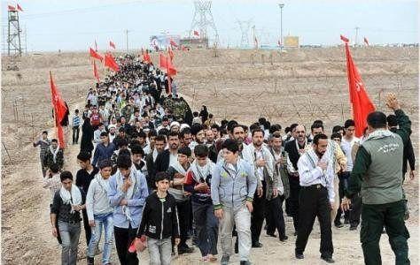 دانش آموزان بافقی عازم راهیان نور شدند
