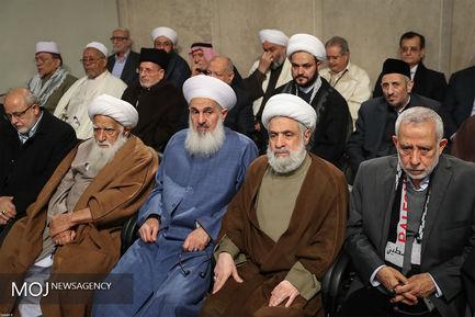 دیدار مهمانان کنفرانس وحدت اسلامی با مقام معظم رهبری