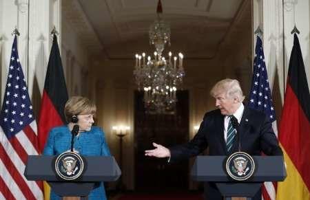 مرکل: برقراری روابط خوب با آمریکا به نفع آلمان است