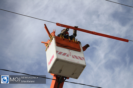 پروژه رفع ضعف ولتاژ برق منطقه بهاران سنندج