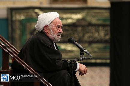 آخرین شب عزاداری شهادت حضرت فاطمه (س) با حضور رهبر انقلاب