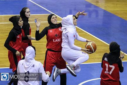 دیدار تیم های بسکتبال بانوان شرکت گاز و هیات فارس