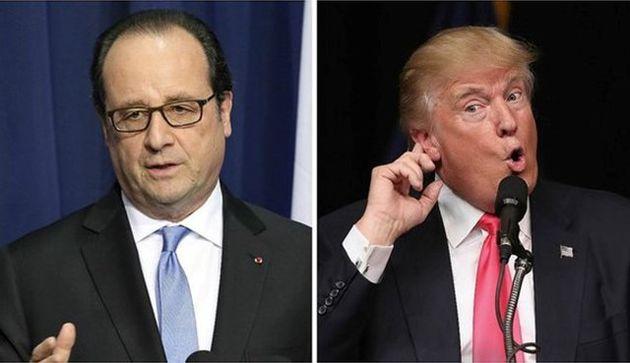 خشم اولاند از موضع گیری ترامپ علیه فرانسه
