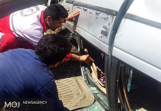 واژگونی خودرو در محور نورآباد به کرمانشاه/ راننده کشته شد