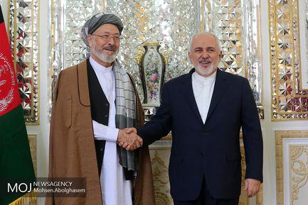 دیدار رییس شورای عالی صلح افغانستان با ظریف