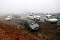 13 مصدوم درپی تصادف زنجیرهای 10 خودرو در کرمان